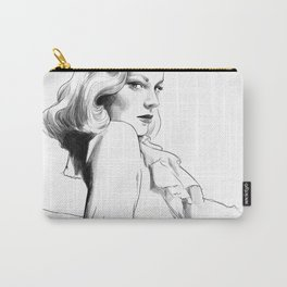 Lauren Bacall - Illustration Carry-All Pouch