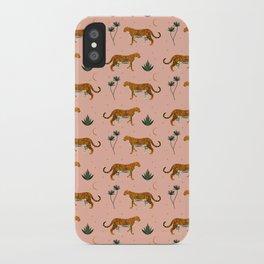 Big Cat pattern Softpink iPhone Case