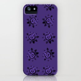 passion flower in violet iPhone Case