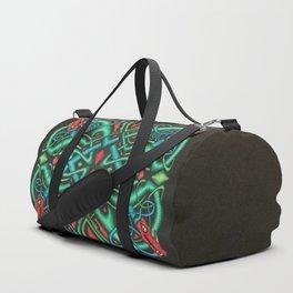 Jewel Tone Ornate Dragon Head Celtic Knot Duffle Bag