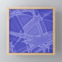Frosty facets with blue chalinias of intersecting luminous bright energy waves. Framed Mini Art Print