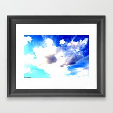 Blue Skies Will Never Fade Framed Art Print