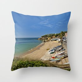 Olhos d'Agua village, Portugal Throw Pillow