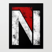 n7 Canvas Prints featuring N7 new logo by BomDesignz