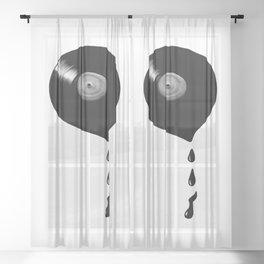 Melting Vinyl Sheer Curtain