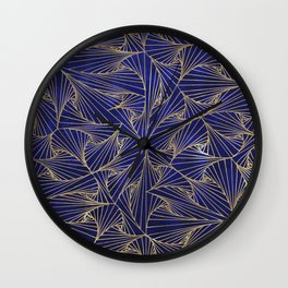 Tangles Blue and Gold Wall Clock