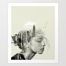Reflection, New York City Art Print