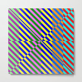 Broken Abstract Art (80s Style Pattern) Metal Print