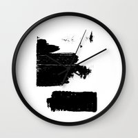 the strokes Wall Clocks featuring Strokes by Sara Pålsson