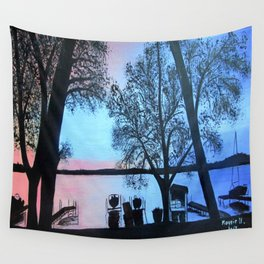 Buffalo lake at night Wall Tapestry