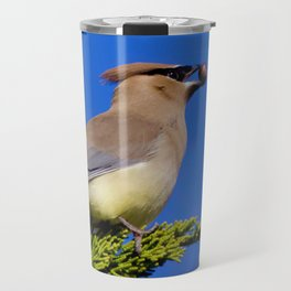Cedar Waxwing Travel Mug