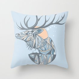 elk root blue Throw Pillow