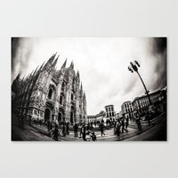 milan Canvas Prints featuring Milan by carotraitler