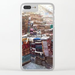 Bookworm Book Stacks Stairs of Knowledge Clear iPhone Case