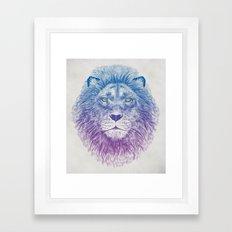 Face of a Lion Framed Art Print