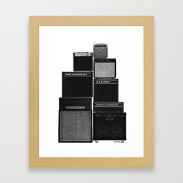 The Great Wall of LOUD Framed Art Print