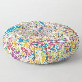 Nashville Tennessee City Map Floor Pillow