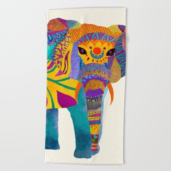 Whimsical Elephant Beach Towel