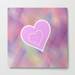 Thatched Heart Metal Print
