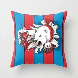 Polar Attraction for Icee Throw Pillow
