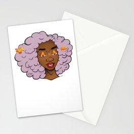 Lavender Edda • Black Girl Magic • Afrogirl Stationery Cards