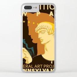 Federal Art Pennsylvania retro ad Clear iPhone Case