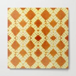 big checkered tie dye in bright mood Metal Print