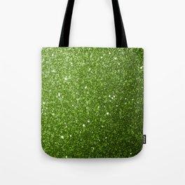 Beautiful light green greenery glitter sparkles Tote Bag