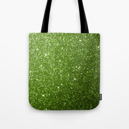 Beautiful light green greenery glitter sparkles Tote Bag