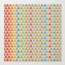 Tri-arrow Hexagon Icon Beige 1 Canvas Print