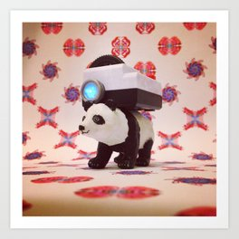 The Panda and the Projector Art Print