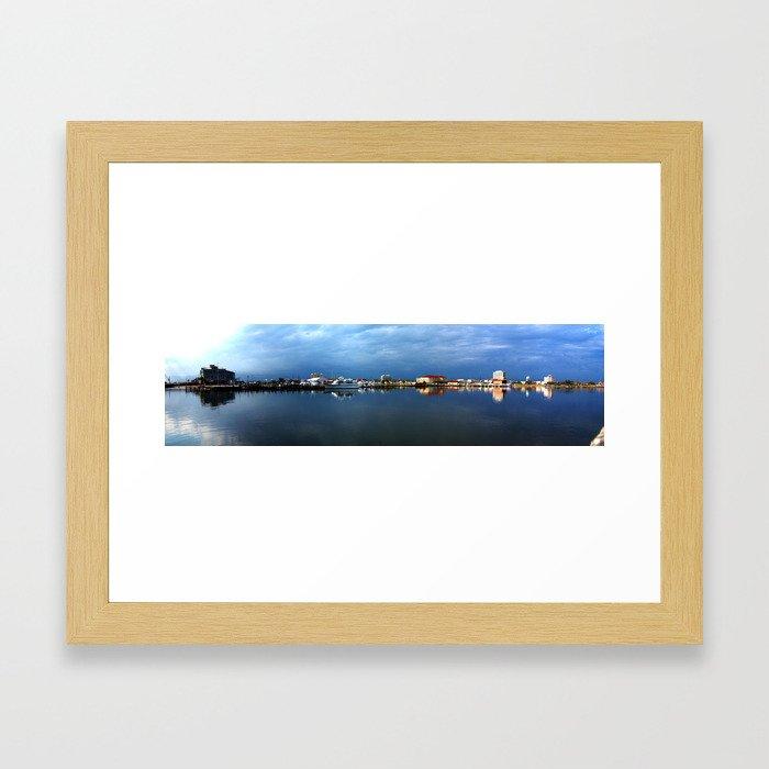 Gulfport, Mississippi Harbor Framed Art Print