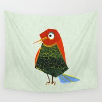 birdy Wall Tapestries featuring Birdy by KristinaVardazaryan