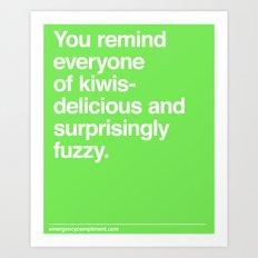 Kiwis Art Print