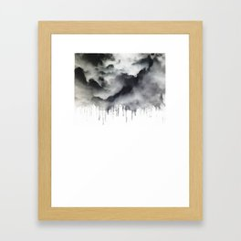 Drop Cloud Framed Art Print