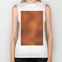 gold foil Biker Tanks featuring Gold Foil Texture 4 by Robin Curtiss