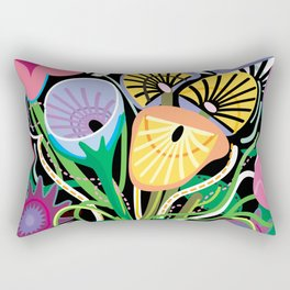 Animal Flowers Rectangular Pillow