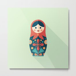 Russian Nesting Doll Metal Print