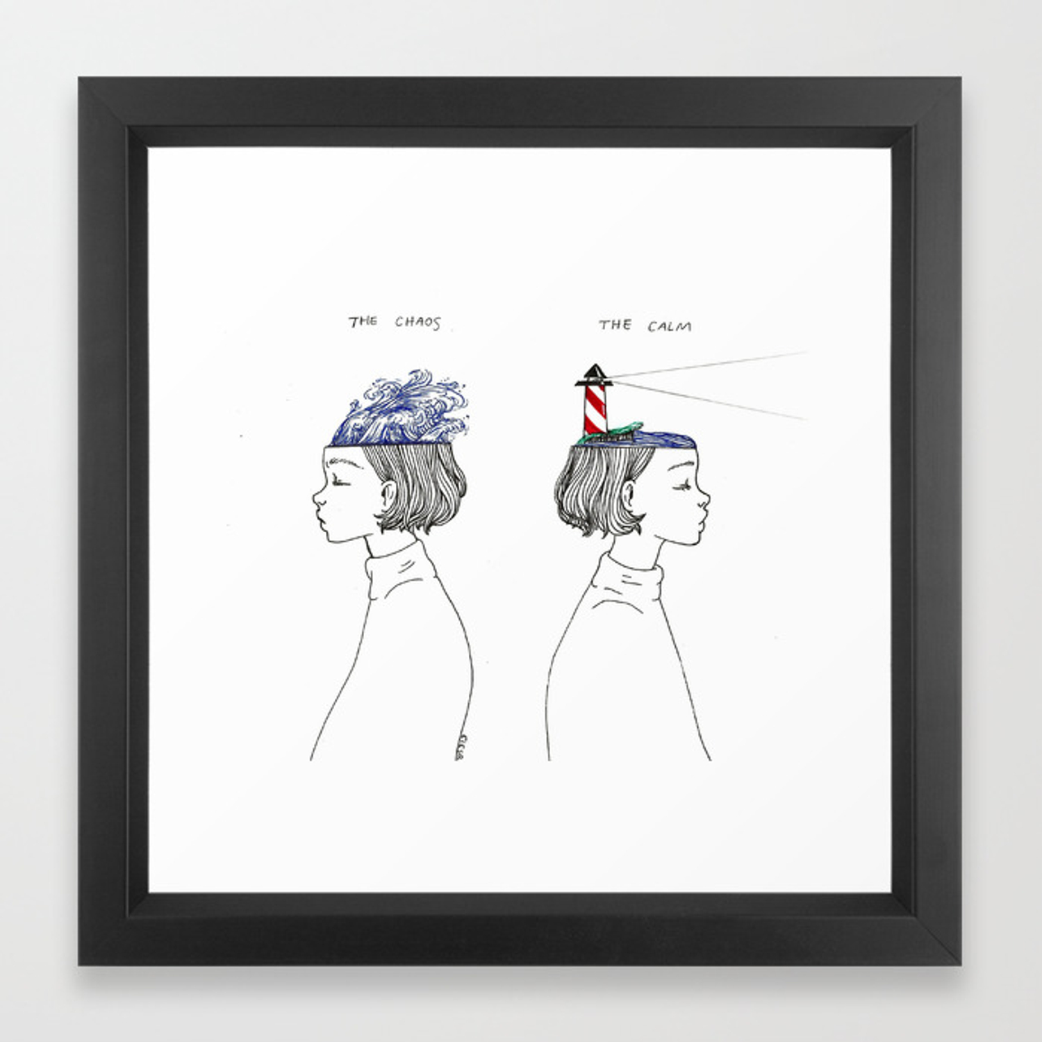 The Chaos and The Calm Framed Art Print