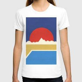 Big Hot Sun Above Desert Pool T-shirt