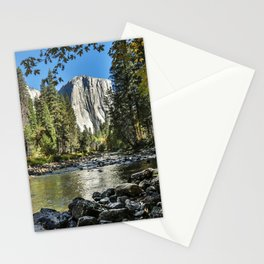 Yosemite Fall Color And Merced River 10-20-18   Stationery Cards