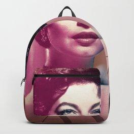 Ava Gardner Collage Portrait Backpack