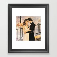 Classy couple in love Framed Art Print