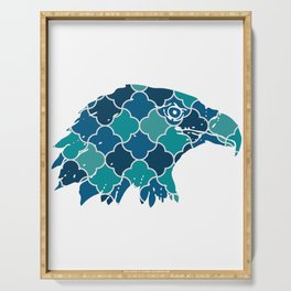 EAGLE SILHOUETTE HEAD WITH PATTERN Serving Tray