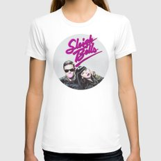 Sleigh Bells LARGE Womens Fitted Tee White