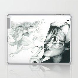 Crystal Castles Cat drawing Laptop & iPad Skin