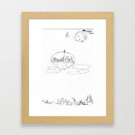 Above the Ash Framed Art Print