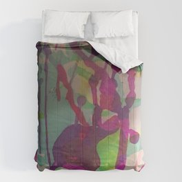 Water Color Frenzy Comforters