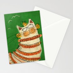 Cat - green Stationery Cards