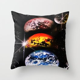 One World Over Throw Pillow